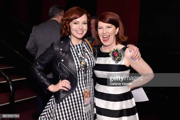 TCM Filmstruck host Alicia Malone and actor Kate Flannery attend the screening of 'The Lost Weekend' during day 3 of the 2018 TCM Classic Film...