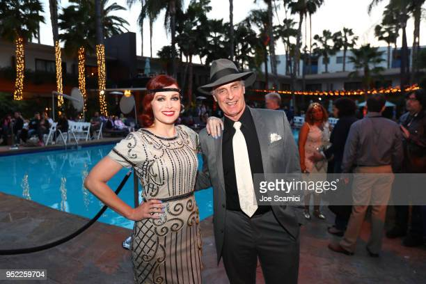 TCM Filmstruck host Alicia Malone and Actor Keith Carradine attend the screening of 'The Roaring Twenties' during Day 2 of the 2018 TCM Classic Film...