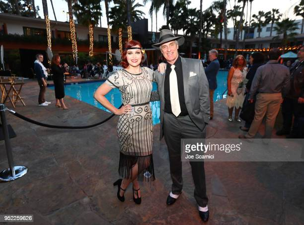 TCM Filmstruck host Alicia Malone and Actor Keith Carradine attends the screening of 'The Roaring Twenties' during Day 2 of the 2018 TCM Classic Film...