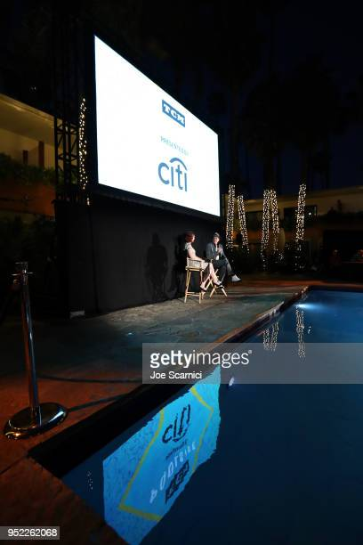 TCM Filmstruck host Alicia Malone and Actor Keith Carradine speak onstage at the screening of 'The Roaring Twenties' during Day 2 of the 2018 TCM...