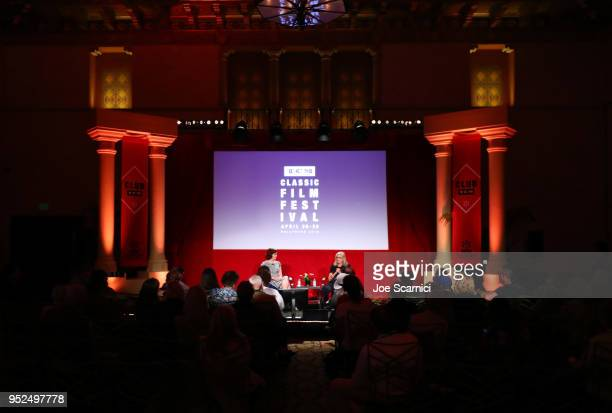 TCM Filmstruck host Alicia Malone and Director Gillian Armstrong speak onstage at 'A Conversation with Gillian Armstrong' during day 3 of the 2018...