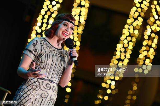 TCM Filmstruck host Alicia Malone speaks onstage at the screening of 'The Roaring Twenties' during Day 2 of the 2018 TCM Classic Film Festival on...