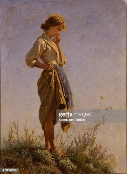 Filomena on Top of the Mountain by Filippo Palizzi 19th Century oil on canvas Italy Lazio Rome National Gallery of Modern and Contemporary ArtGNAM...