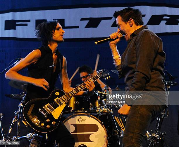 Filter guitarist Jonny Radtke and singer Richard Patrick perform at The Joint inside the Hard Rock Hotel Casino as the band tours in support of the...