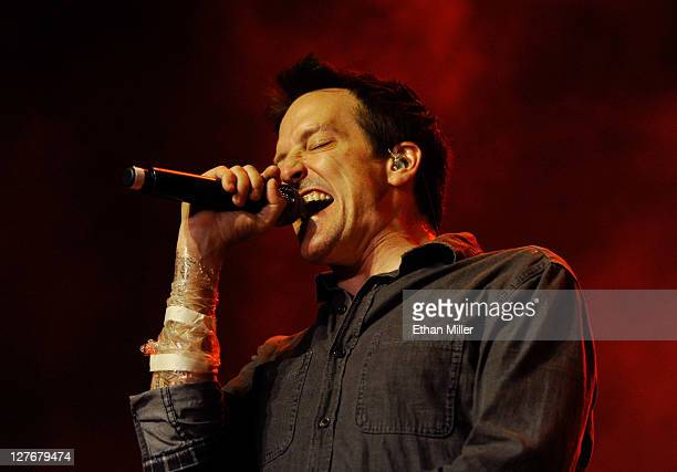 Filter singer Richard Patrick performs at The Joint inside the Hard Rock Hotel Casino as the band tours in support of the album The Trouble with...