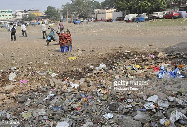 Filth and waste littered all over Chhola Dussehra ground one month after chief minister Shivraj Singh Chouhan along with BJP leaders cleaned the...