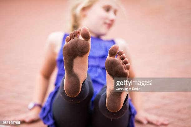 filthy feet - dirty feet stock pictures, royalty-free photos & images