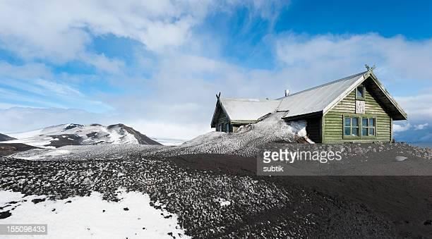 fimmförduhalsskali, iceland - fimmvorduhals volcano stockfoto's en -beelden