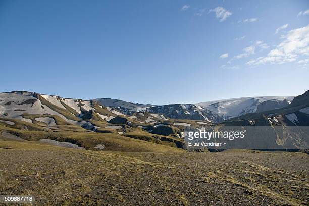 Fimmvorouhals is the area between the glaciers Eyjafjallajokull and Myrdalsjokull in southern Iceland The route between Skogar and Thorsmork goes...
