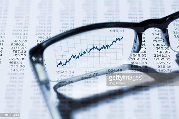 Finacial graph seen through eyeglasses