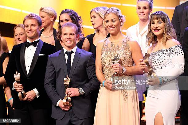 Final applause Nico Rosberg Formula One F1 driver and World Champion 2016 Fabian Hambuechen Tennis Champion Angelique Kerber and Kristina Vogel...
