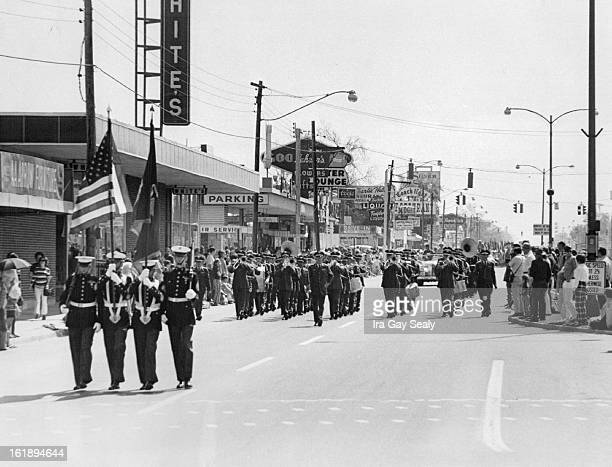 MAY 22 1971 MAY 23 1971 Final Community Parade Appearance Preceded down E Colfax Ave in Aurora Saturday Morning by a Marine Corps color guard Lowry...