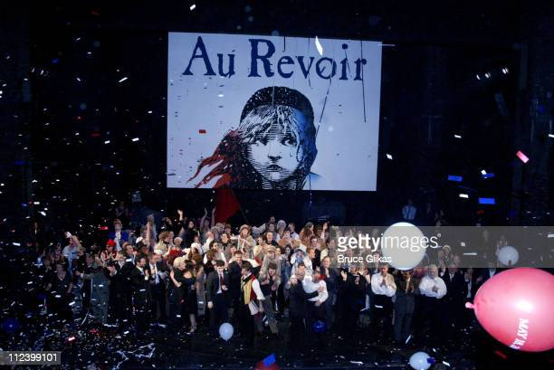 Final curtain call of Les Miserables during The Final Performance of Broadway's LongRunning Tony AwardWinning Musical Les Miserables at The Imperial...