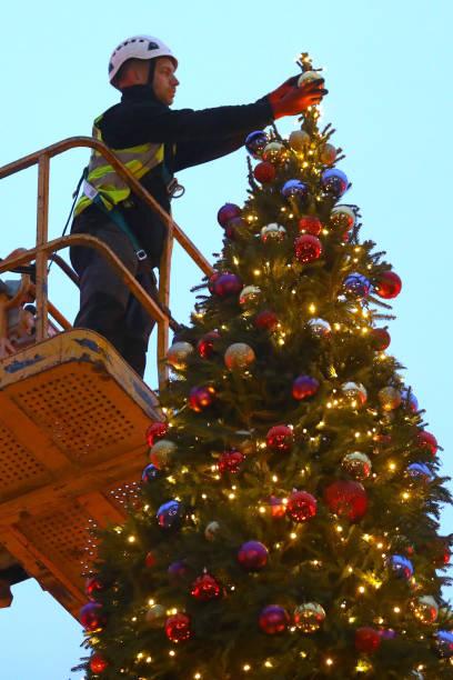 GBR: Somerset House Christmas Tree Decorating - Photocall