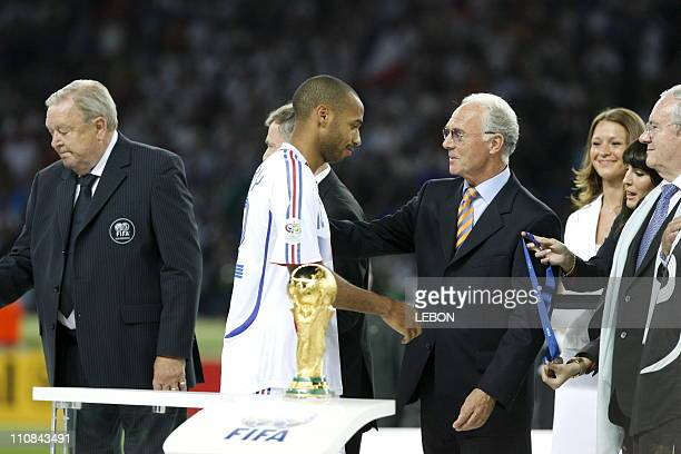 Final Fifa World Cup Germany 2006 Italie Vs France In Berlin, Germany On July 09,2006 - Lennart Johansson, Thierry Henry and Franz Beckenbauer.