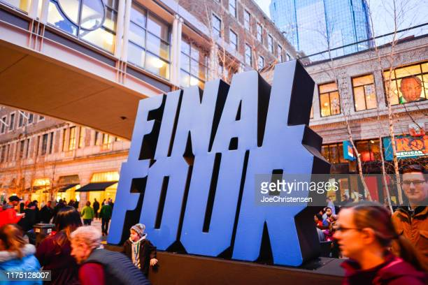 ncaa final four basketball tournament signage in minneapolis minnesota - ncaa stock pictures, royalty-free photos & images