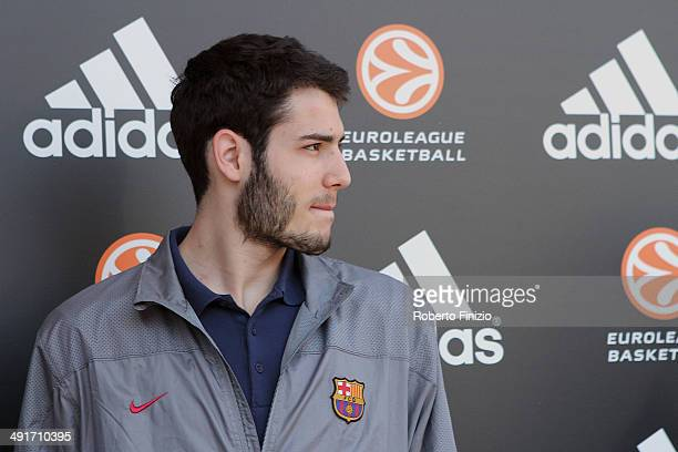 Final Four Players Meet and Greet during the Fan Zone Activities as part of Turkish Airlines EuroLeague Final Four at Piazza Duomo on May 17 2014 in...