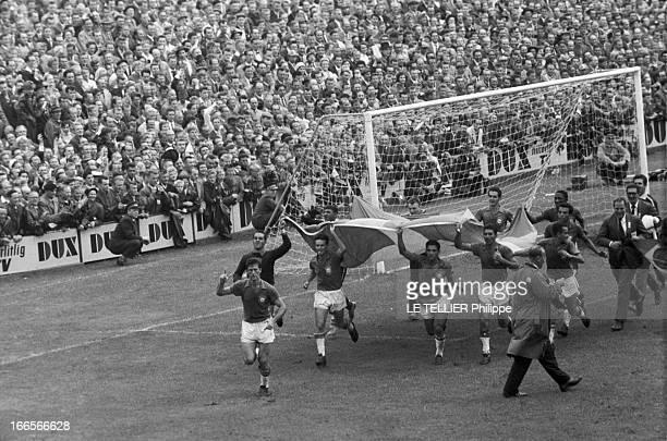 Final Of Soccer World Cup 1958 Brazil Sweden En Suède à Solna dans le stade de Rasunda le 29 juin 1958 à l'occasion de la finale de la Coupe du Monde...