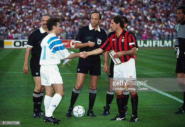Final of the European Champions Cup for the 19921993 season AC Milan vs Olympique Marseille Marseille won 10 The two captains Didier Deschamps and...