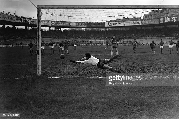 Final Of The Football Coupe de France 1963 Between AS Monaco And Olympique Lyonnais At the Parc Des Princes Stadium on May 23 1963 in Paris France