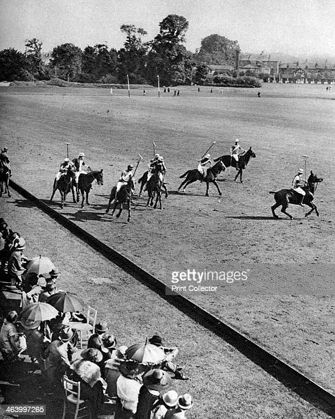 Final of the Ranelagh Open Cup Ranelagh London 19261927 Spectators watching a polo match Illustration from Wonderful London edited by Arthur St John...