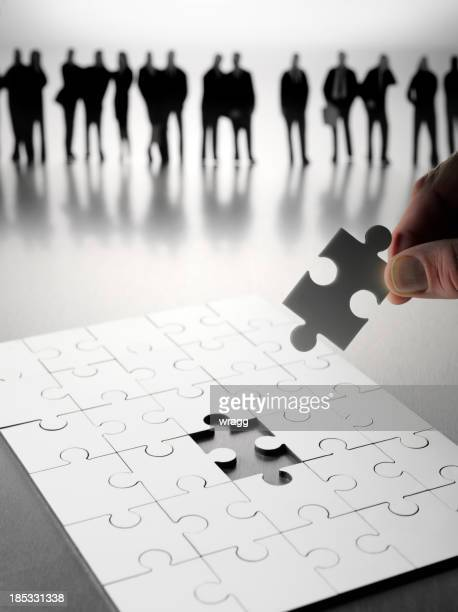 Letzte Stück im Puzzle Teamarbeit