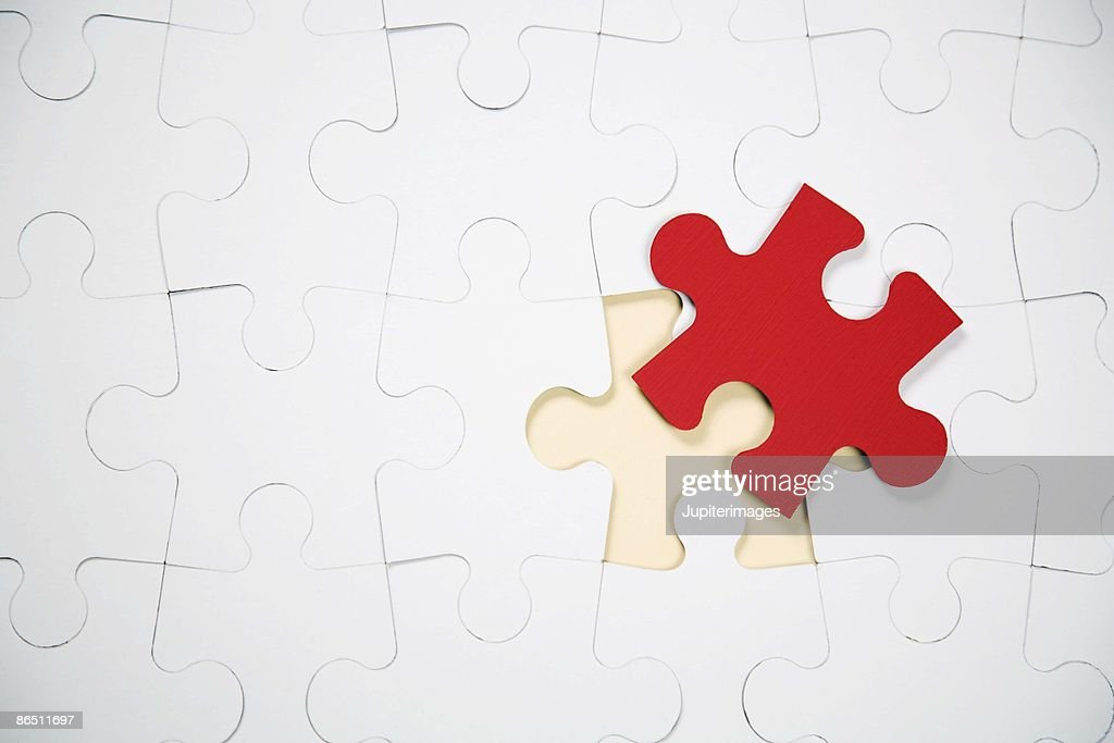 Final piece of puzzle : Stock Photo