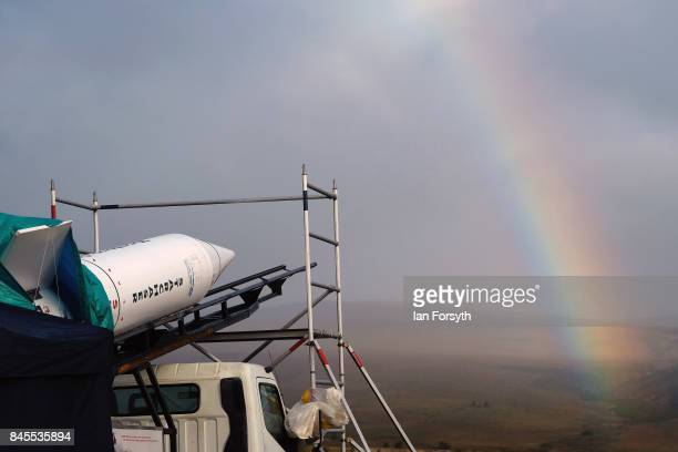 Final preparations are made before the launch of the Skybolt 2 Research Rocket from Otterburn in Northumberland on September 11, 2017 in Hexham,...