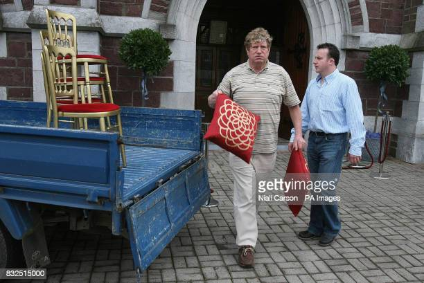 Final preperations are made at St Patrick's church in Fermoy Co Cork ahead of the wedding of River Dance star Michael Flatley to 32yearold dancer...