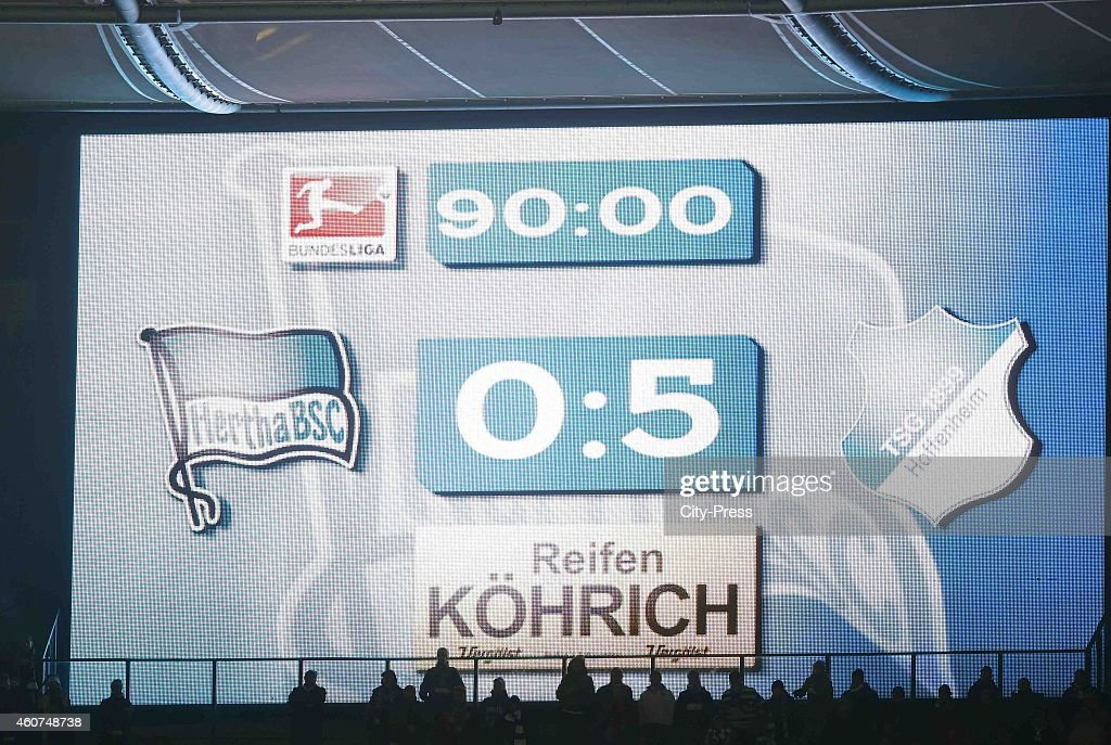 5 during the game between Hertha BSC and TSG Hoffenheim on December 21, 2014 in Berlin, Germany.