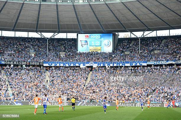 12 final score after the game between Hertha BSC and SV Darmstadt 98 on may 7 2016 in Berlin Germany