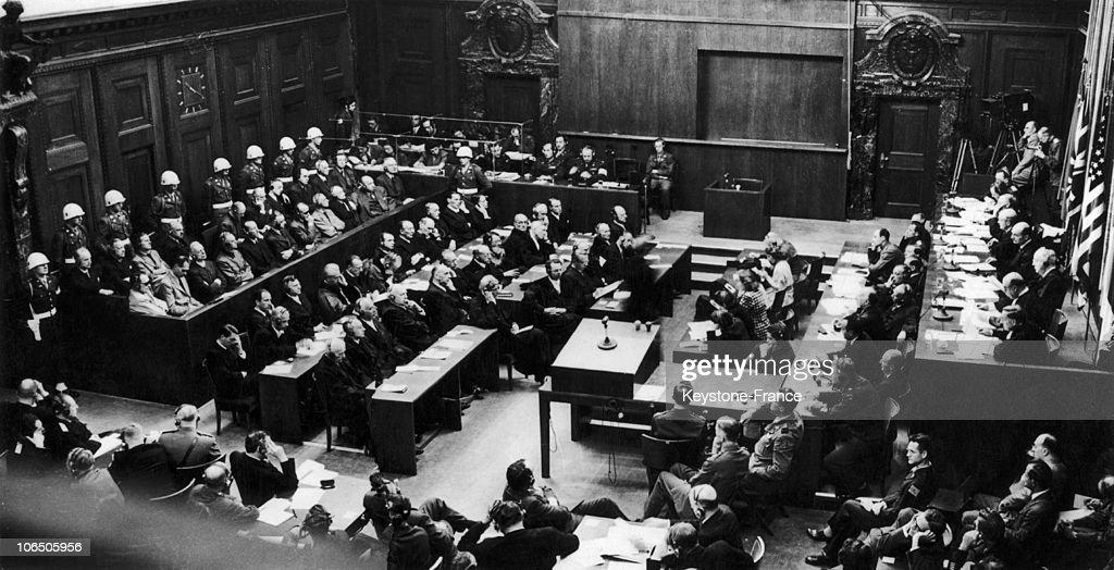 Nuremberg Trials In 1946 : News Photo