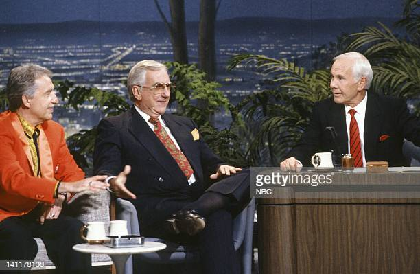 CARSON 'Final Show' Air Date Pictured Bandleader Doc Severinsen cohost Ed McMahon Host Johnny Carson Photo by Alice S Hall/NBCU Photo Bank