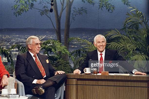 CARSON Final Show Air Date Pictured Cohost Ed McMahon Host Johnny Carson Photo by Alice S Hall/NBCU Photo Bank