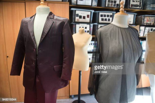 Final stage costume designs seen during the press conference for Russian Opera 'Demon' at Gran Teatre del Liceu on April 18 2018 in Barcelona Spain