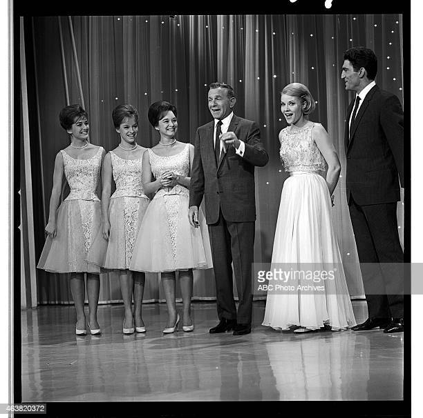 March 28 1964 LR THE LENNON SISTERSGEORGE BURNS PATTI