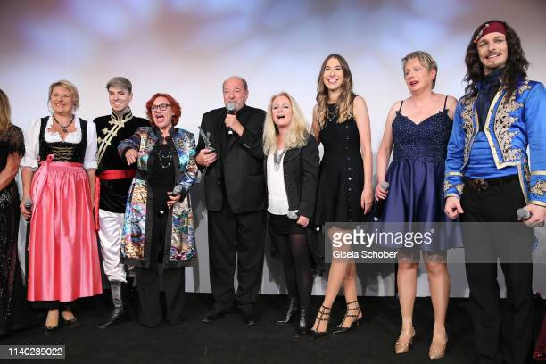 Finale Angela Wiedl Lou Hoffen Ralph Siegel Nicole Seibert Alana Siegel Corinna May during the 7th Fashion Charity Dinner and the Best of Awards at...