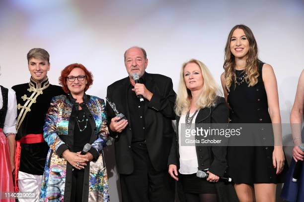 Finale Angela Wiedl Lou Hoffen Ralph Siegel Nicole Seibert Alana Siegel during the 7th Fashion Charity Dinner and the Best of Awards at Hotel...