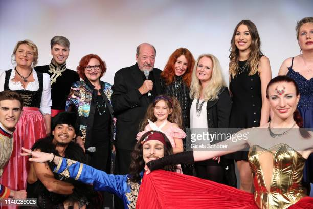 Finale applause Angela Wiedl Lou Hoffen Ralph Siegel and his wife Laura Siegel daughter Ruby Vivian Nicole Seibert Alana Siegel Corinna May during...
