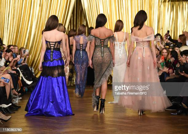 Finale at the Aadnevik Fashion Show during London Fashion Week February 2019 on February 17 2019 in London England