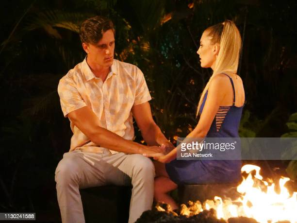 ISLAND Finale Bonfire Part 1 Episode 110 Pictured Evan Smith Kaci Campbell