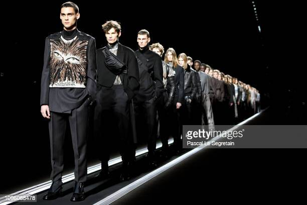 Finale during the Dior Homme Menswear Fall/Winter 20192020 show as part of Paris Fashion Week on January 18 2019 in Paris France