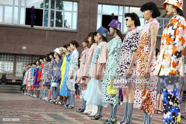 Finale during the Kenzo Menswear Spring/Summer 2018 show as part of Paris Fashion Week on June 25 2017 in Paris France