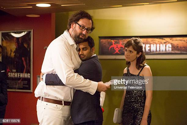 NONE 'Finale' Episode 110 Pictured Eric Wareheim as Arnold Aziz Ansari as Dev Noël Wells as Rachel