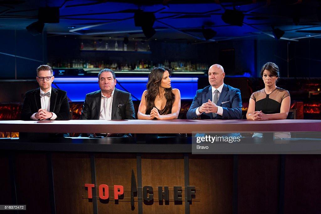 TOP CHEF -- 'Finale' Episode 1315 -- Pictured: (l-r) Richard Blais, Emeril Lagasse, Padma Lakshmi, Tom Colicchio, Gail Simmons --