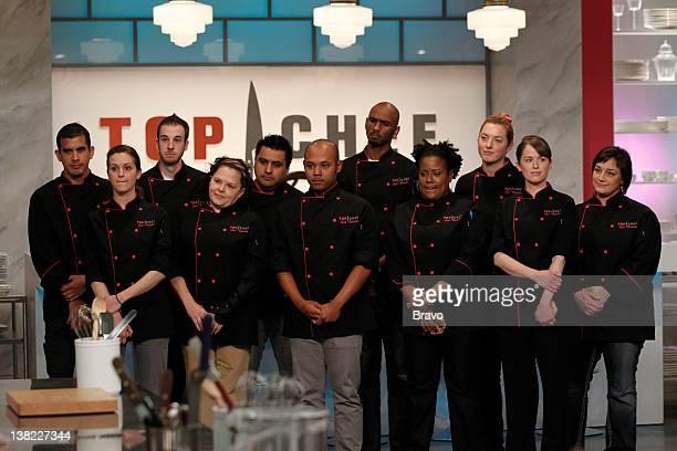 "Finale"" Episode 210 -- Pictured: Former contestants Nelson Paz, Amanda Rockman, Craig Poirier, Rebecca Masson, Carlos Enriquez, Vanarin Kuch, Orlando..."