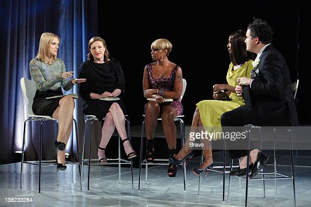 COLLECTION Finale Episode 210 Pictured Judges Laura Brown Glenda Bailey Mary J Blige Iman Isaac Mizrahi