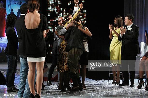 "Finale"" Episode 210 -- Pictured: Winner Jeffrey Williams, host Iman, co-host Isaac Mizrahi"