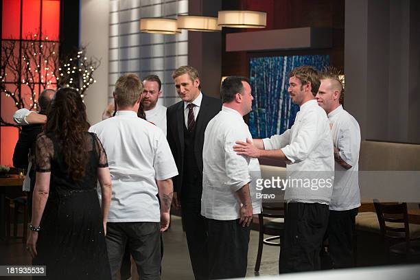 MASTERS Finale Episode 510 Pictured Sous chef Paul Winberry host Curtis Stone winner Douglas Keane sous chefs Jorel Pierce Graeme Ritchie