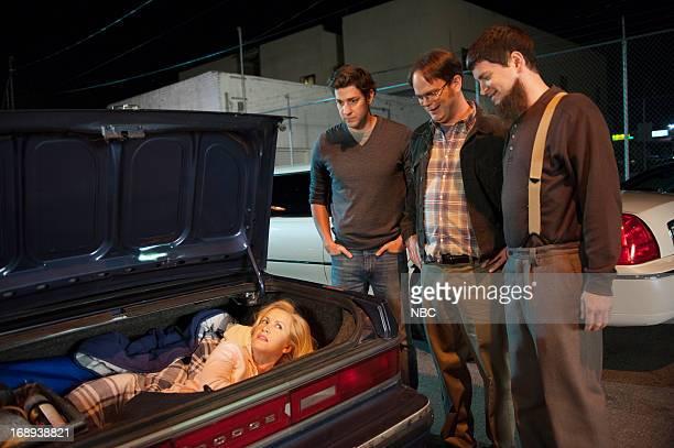 THE OFFICE Finale Episode 924/925 Pictured Angela Kinsey as Angela Martin John Krasinski as Jim Halpert Rainn Wilson as Dwight Schrute